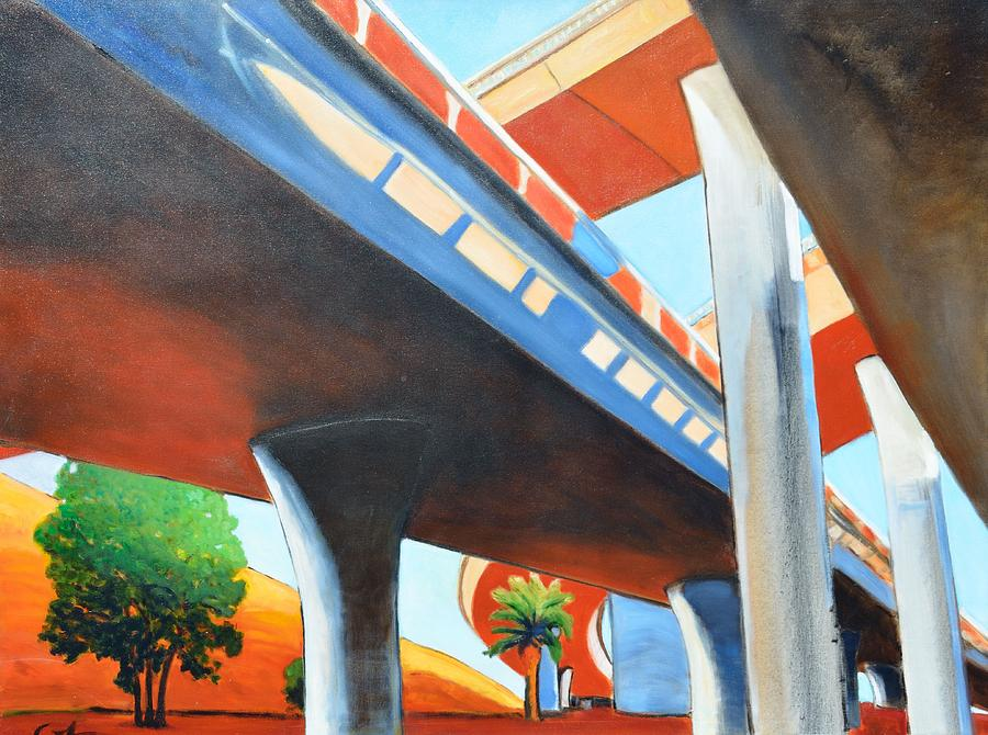 Overpass Painting - Monument by Gary Coleman