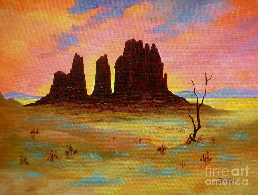 Landscape Painting - Monument by Shasta Eone