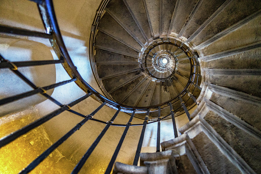 Architecture Photograph - Monument Stairs by Jae Mishra