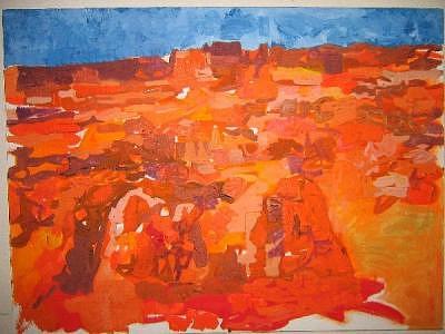 Monument Valey Orange Painting by William Brandt