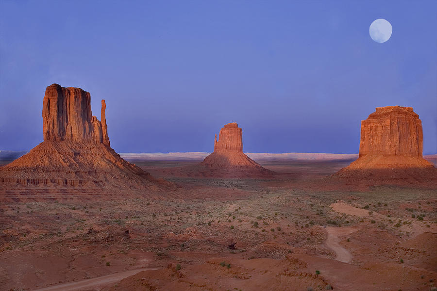 Monument Valley Photograph - Monument Valley At Dusk by Joel P Black