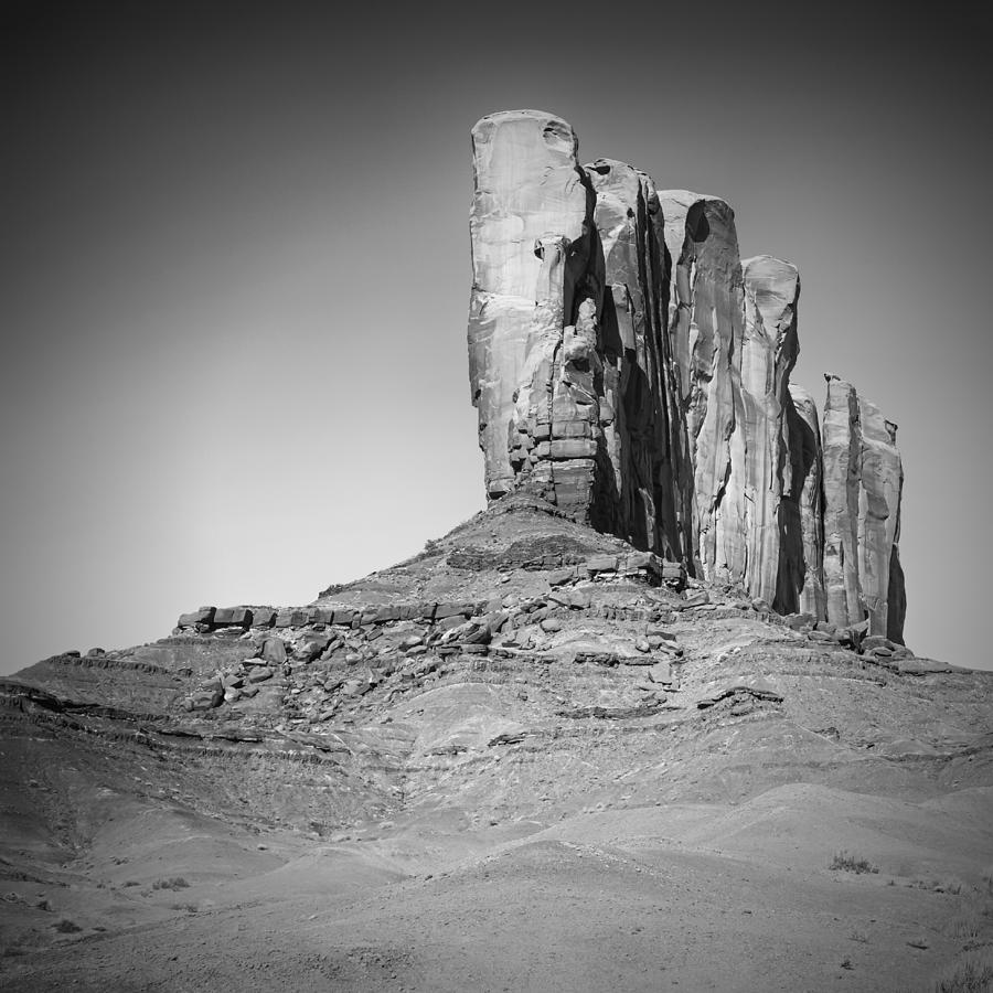 Monument Valley Photograph - Monument Valley Camel Butte Black And White by Melanie Viola