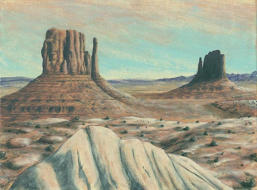 Landscapes Painting - Monument Valley by Dave Herrling