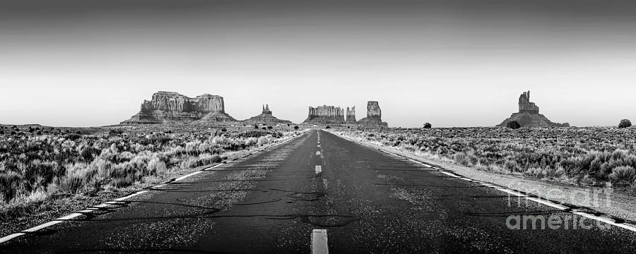 Monument Valley Photograph - Freedom Bw by Az Jackson