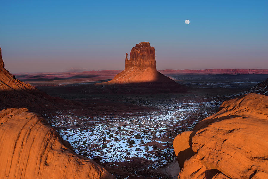 Utah Photograph - Monument Valley by Larry Marshall