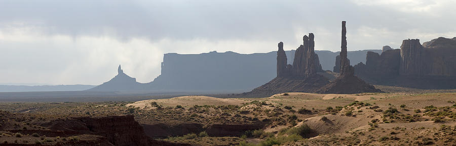 Panorama Photograph - Monument Valley by Mike Irwin