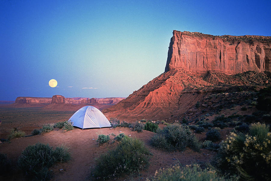 Monument Valley Moonrise Photograph