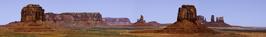 Monument Valley Photograph - Monument Valley Pano by Paul Basile