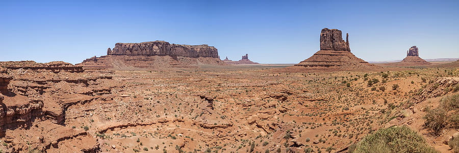 Monument Valley Photograph - Monument Valley Panoramic Valley View by Melanie Viola