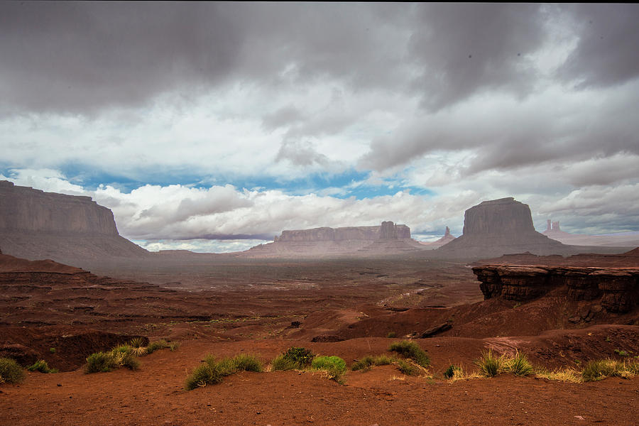 Monument Valley Photograph - Monument Valley rain by Roy Nierdieck