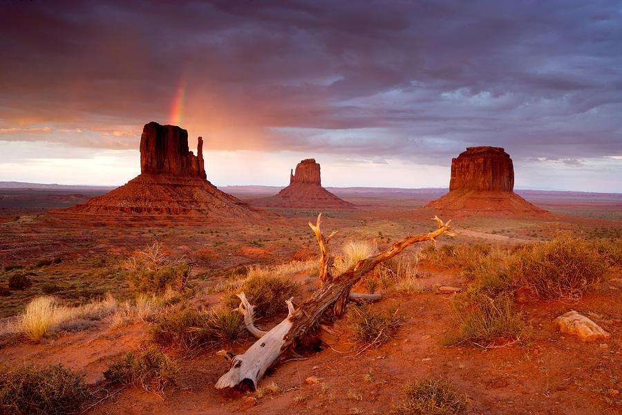 Arizona Photograph - Monument Valley Rainbow by Eric Foltz