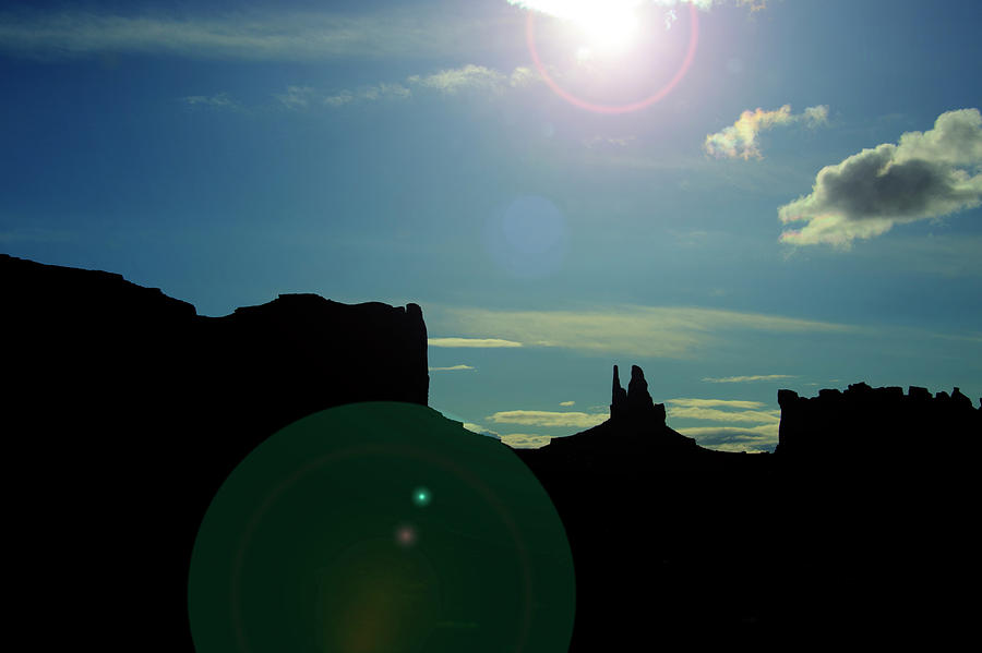 Monument Valley Photograph - Monument Valley silhouette by Roy Nierdieck