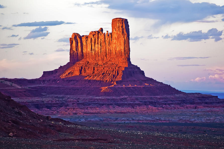 Monument Valley Photograph - Monument Valley Sunset One by Paul Basile