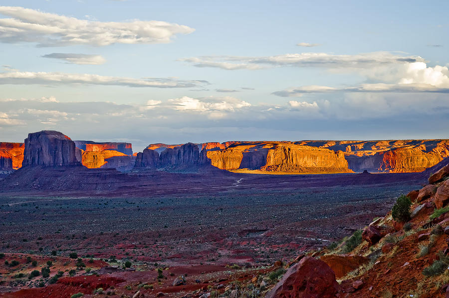 Monument Valley Photograph - Monument Valley Sunset Two by Paul Basile