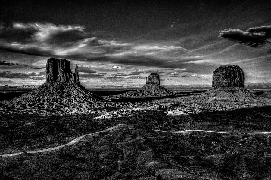 Monument Valley Views BW by Roger Passman