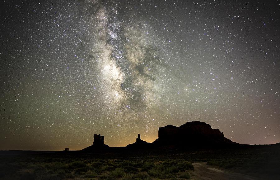 Desert Photograph - Monumental Sky by Tony Fuentes