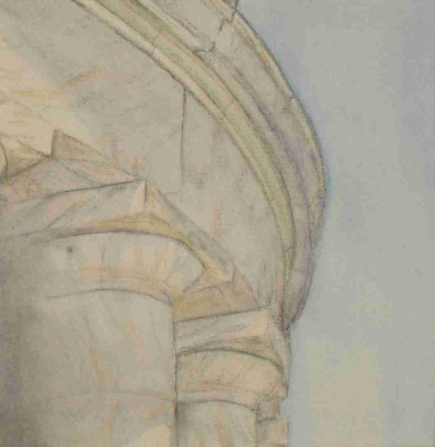 Marble Columns Painting - Monumented by Paatricia Brown