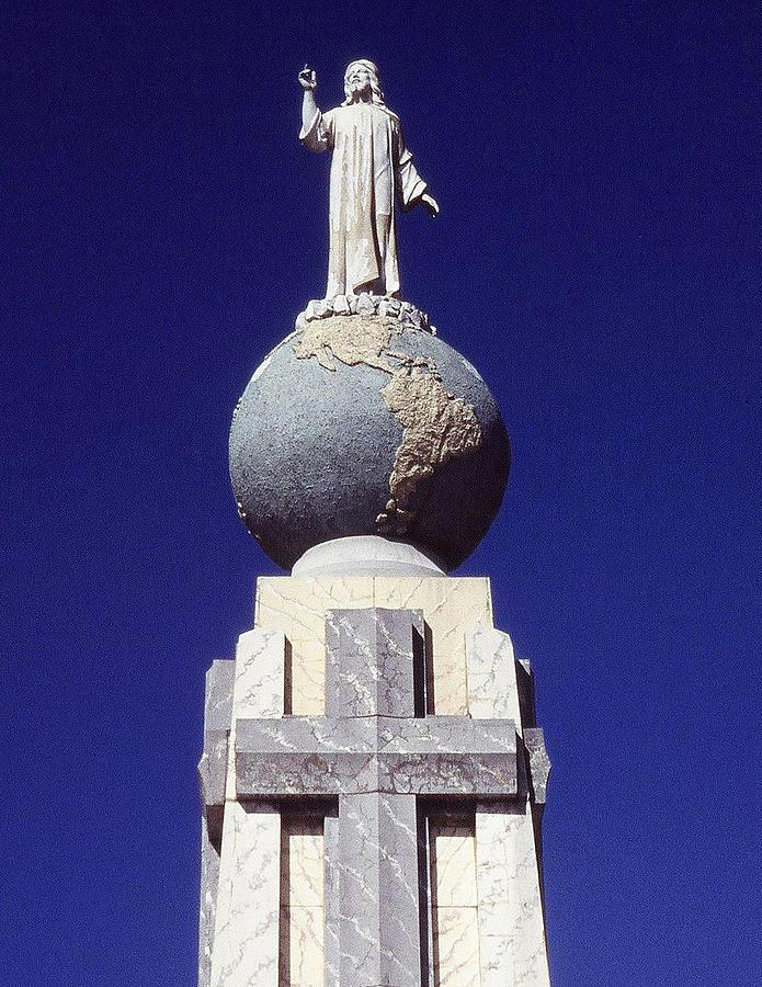 monumento al divino salvador del mundo photograph by juergen weiss