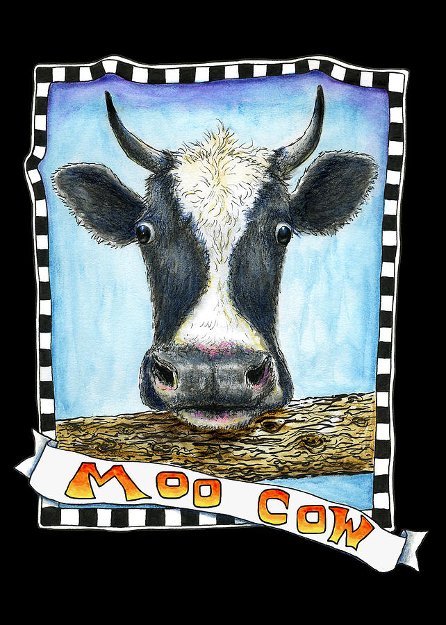 Moo Cow in Black by Retta Stephenson