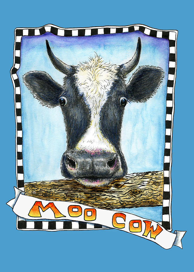 Moo Cow in Blue by Retta Stephenson