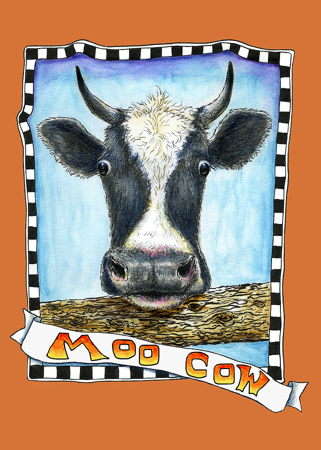Moo Cow in Orange by Retta Stephenson
