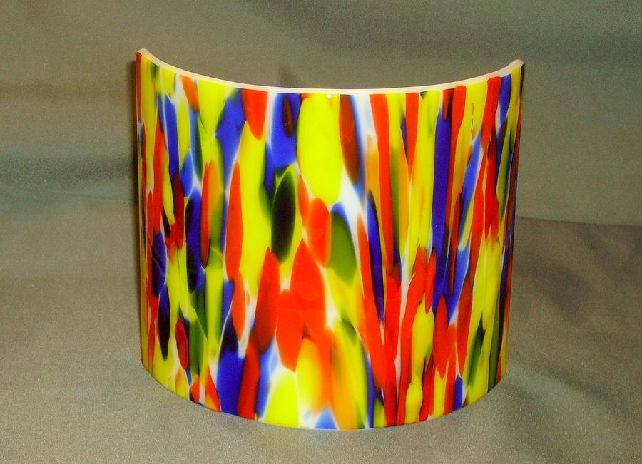 Fused Glass Glass Art - Mood Lamp by Craig Gill
