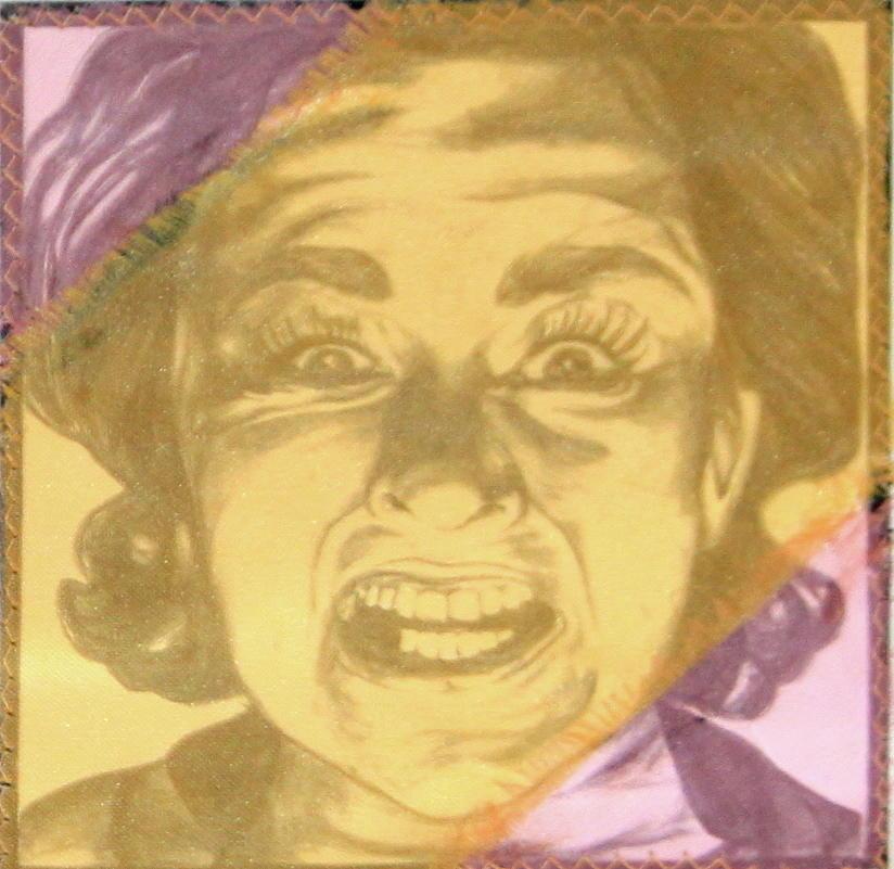 Mood Swings  purple Mixed Media by Joseph Lawrence Vasile