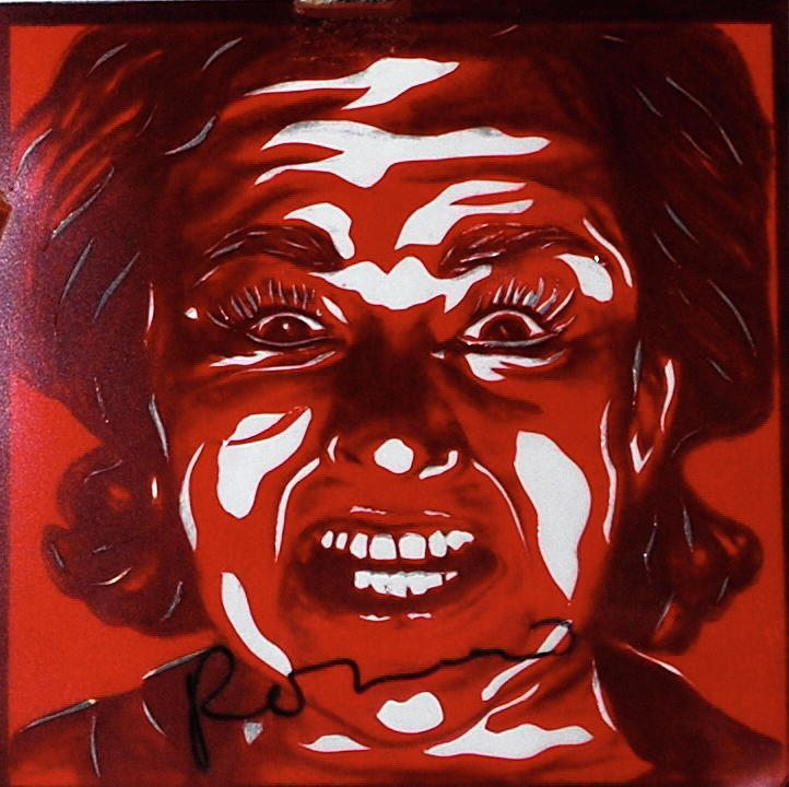 Mood Swings  red Mixed Media by Joseph Lawrence Vasile