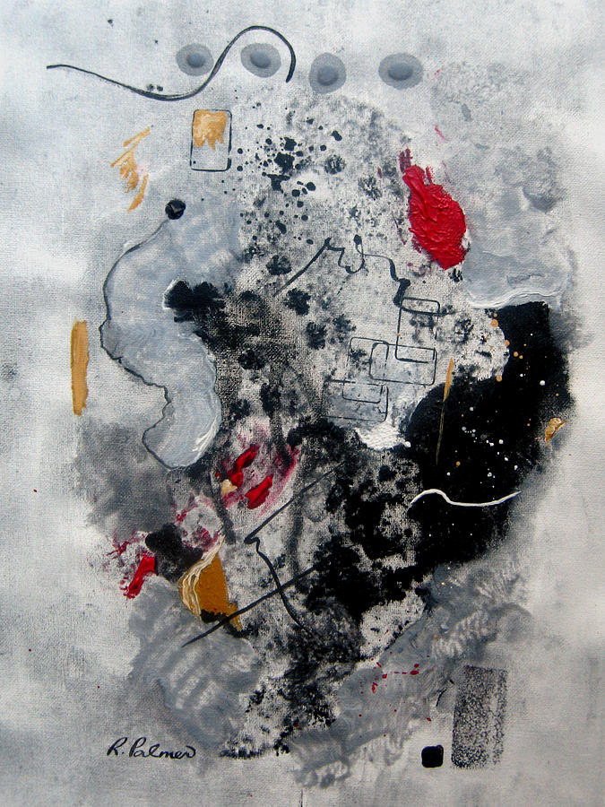 Abstract Painting - Moods II by Ruth Palmer