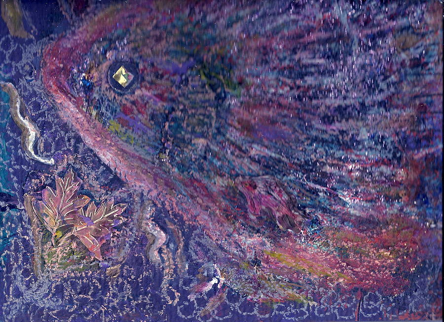 Pretty Mixed Media - Moody Blues Fish With Sparkling Eye I by Anne-Elizabeth Whiteway