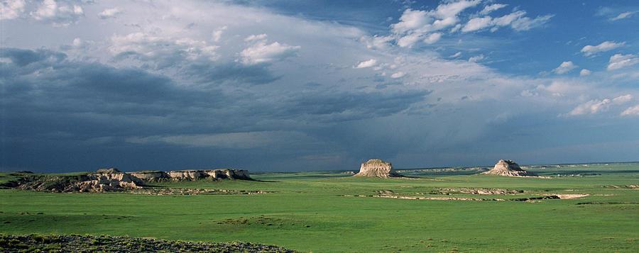 Landscape Photograph - Moody-buttes by Jim Benest