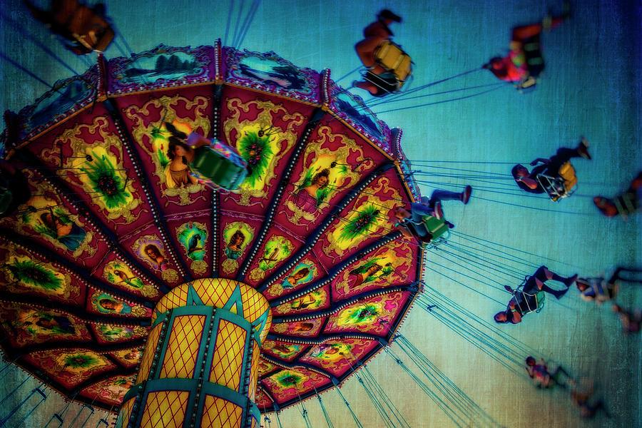 Carnival Swing Photograph - Moody Fair Swing by Garry Gay