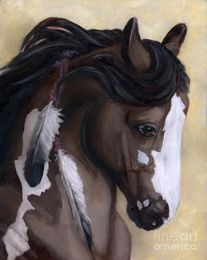 Horse Painting - Mookaite by Brandy Woods