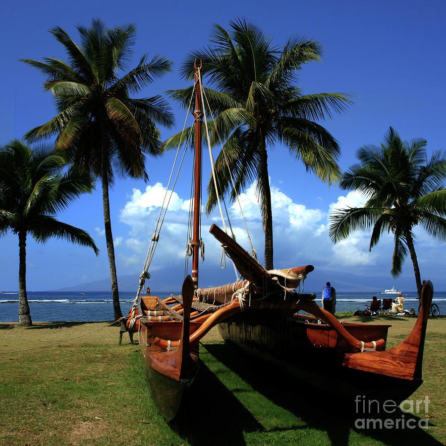 Aloha Photograph - Moolele Canoe At Hui O Waa Kaulua Lahaina by Sharon Mau