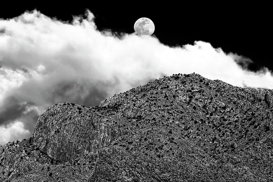 Moon And Clouds Over Pusch Ridge H1831 Photograph