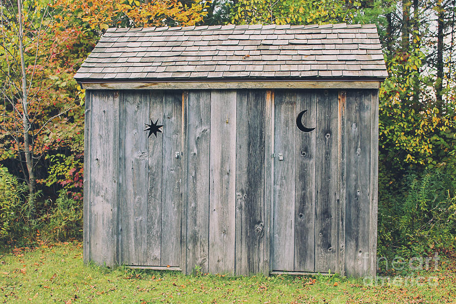 Moon And Stars Outhouse Photograph By Nikki Vig
