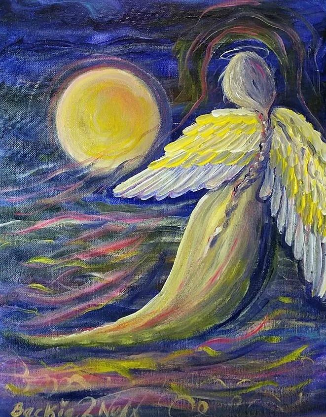 Moon angel by Beckie Neff