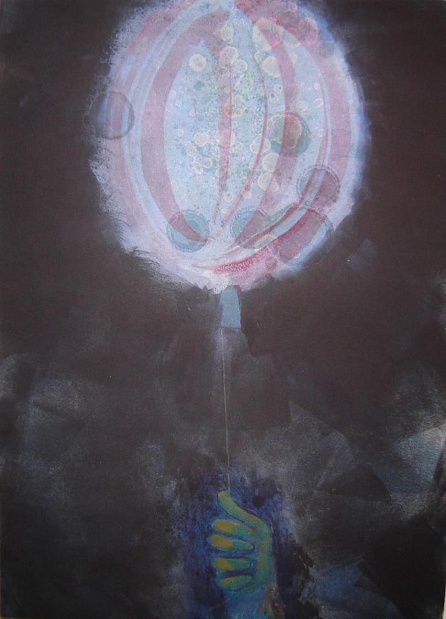 Night Print - Moon Balloon by Jim Innes