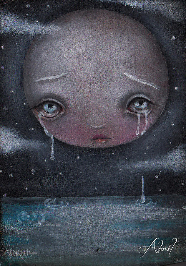 Moon Painting - Moon Boy by Abril Andrade