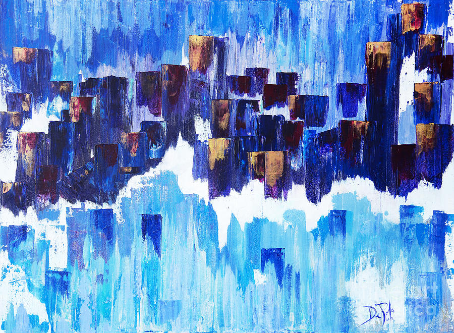 Abstract Painting - Moon Dance Cle  by JoAnn DePolo