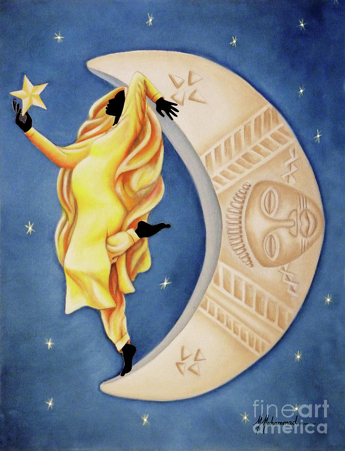 Moon Painting - Moon Dancer by Marcella Muhammad