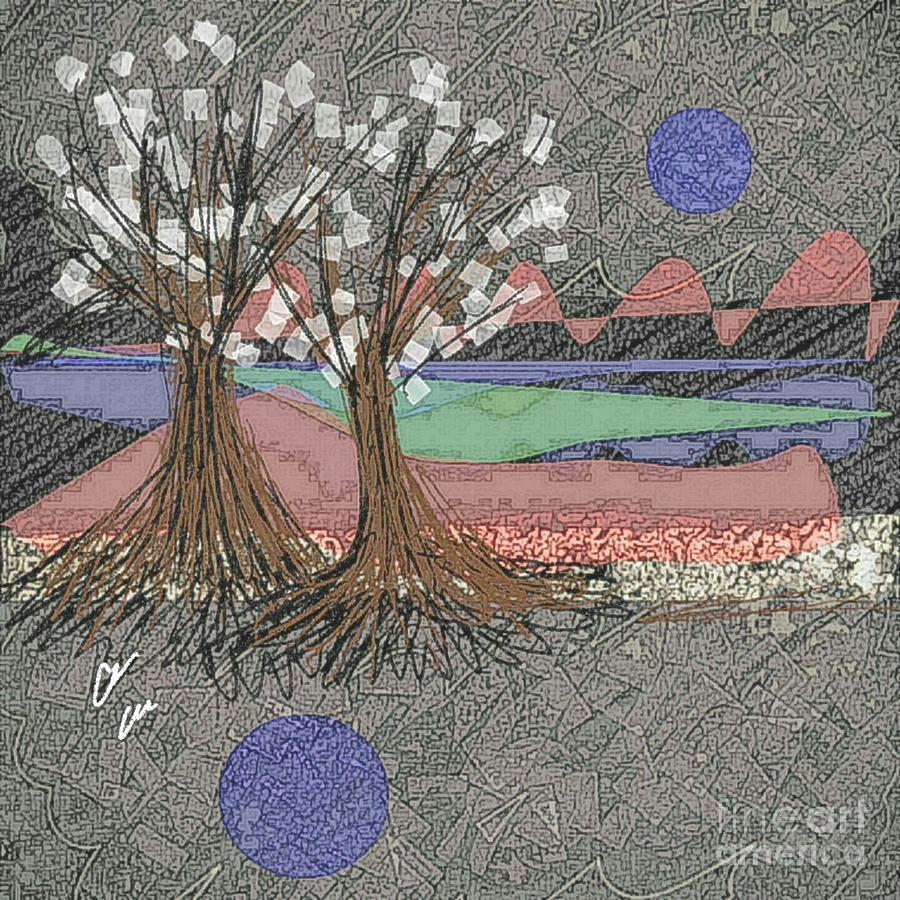 Dusk Mixed Media - Moon Dusk by Ann Calvo