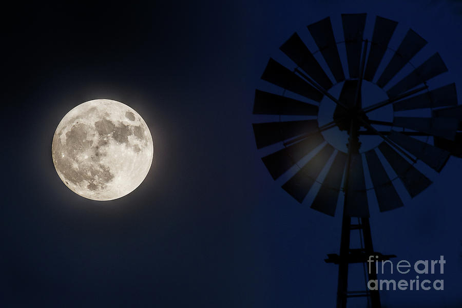 Moon Landscape Photograph - Moon Flare by Jim Garrison