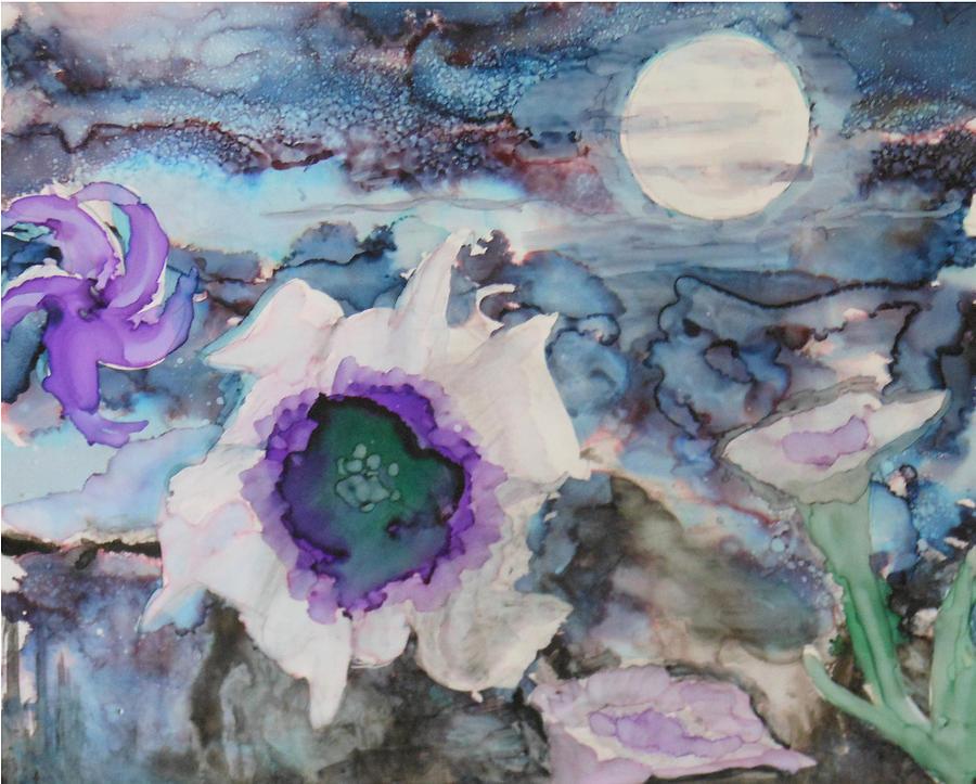 Moon Flower in Bloom by Pam Halliburton