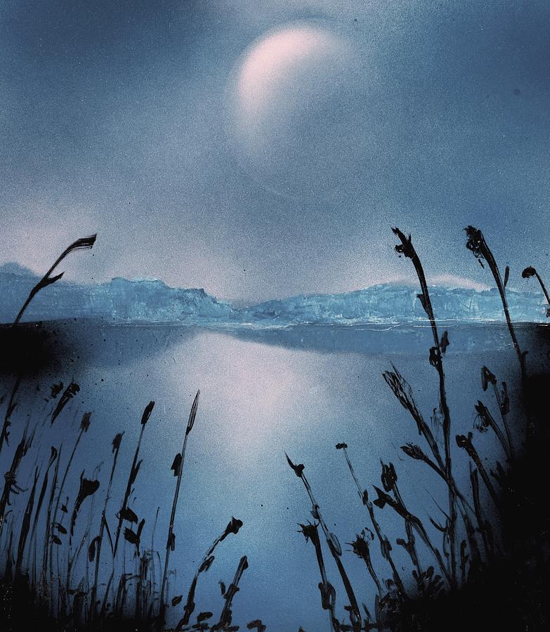 Fantasy Painting - Moon Fog by Nandor Molnar