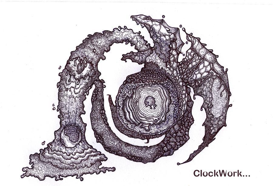 Moon Drawing - Moon Guardian by ClockWork Rockawn