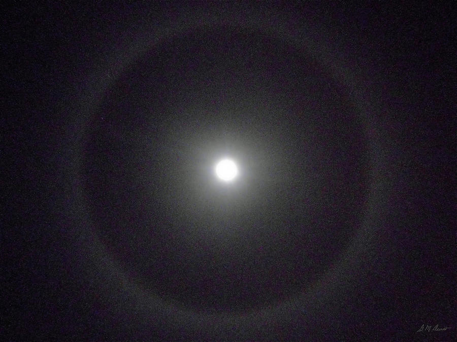 Moon Photograph - Moon Halo by Michael Durst