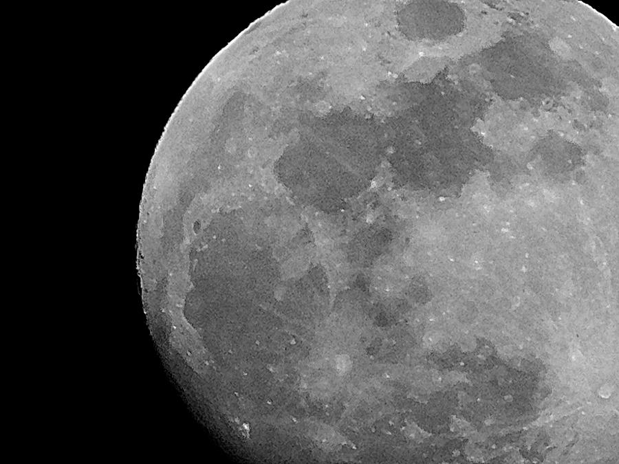 Bw Photograph - Moon In B And W by Arlane Crump