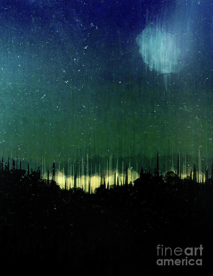 Texture Digital Art - Moon Light by Phil Perkins