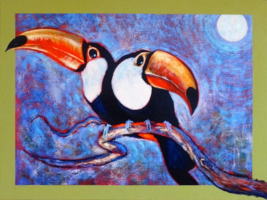 Moon Light Toucans Two by Charles Munn